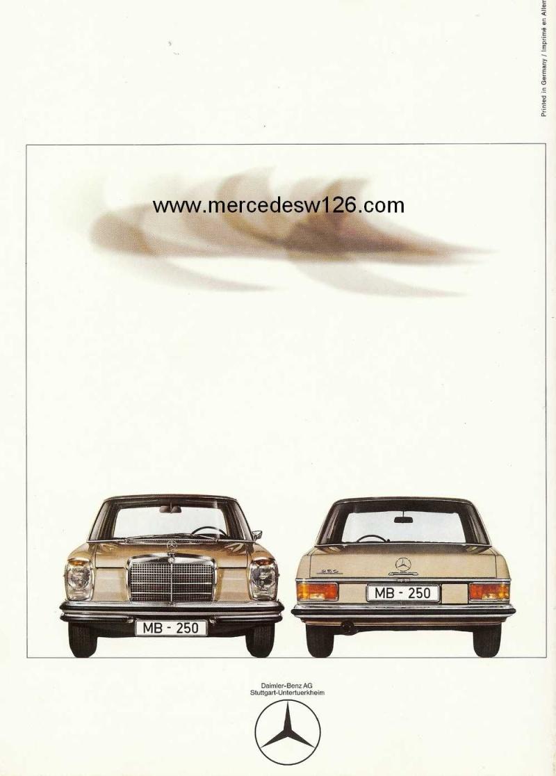 Catalogue de 1968 sur la Mercedes W114 250 (décembre 1968) 250_1919