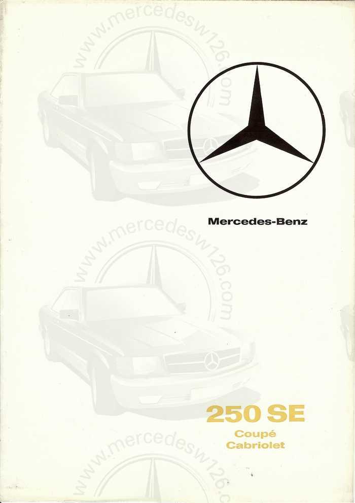Catalogue de 1965 sur la Mercedes W111 250 SE coupé & cabriolet 250_se10