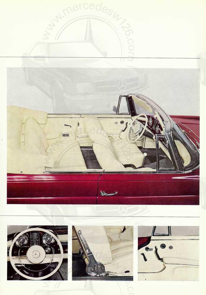 Catalogue de 1965 sur la Mercedes W111 250 SE coupé & cabriolet 250_se11