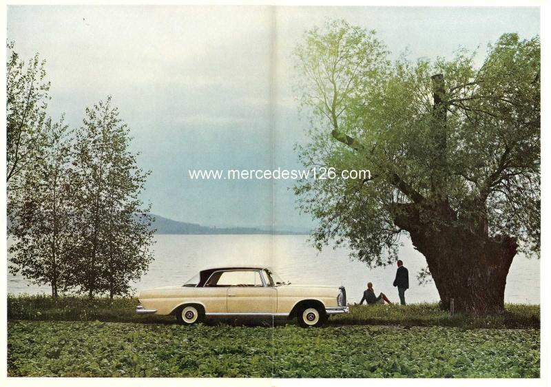 Catalogue de 1965 sur la Mercedes W111 250 SE coupé & cabriolet 250_se14