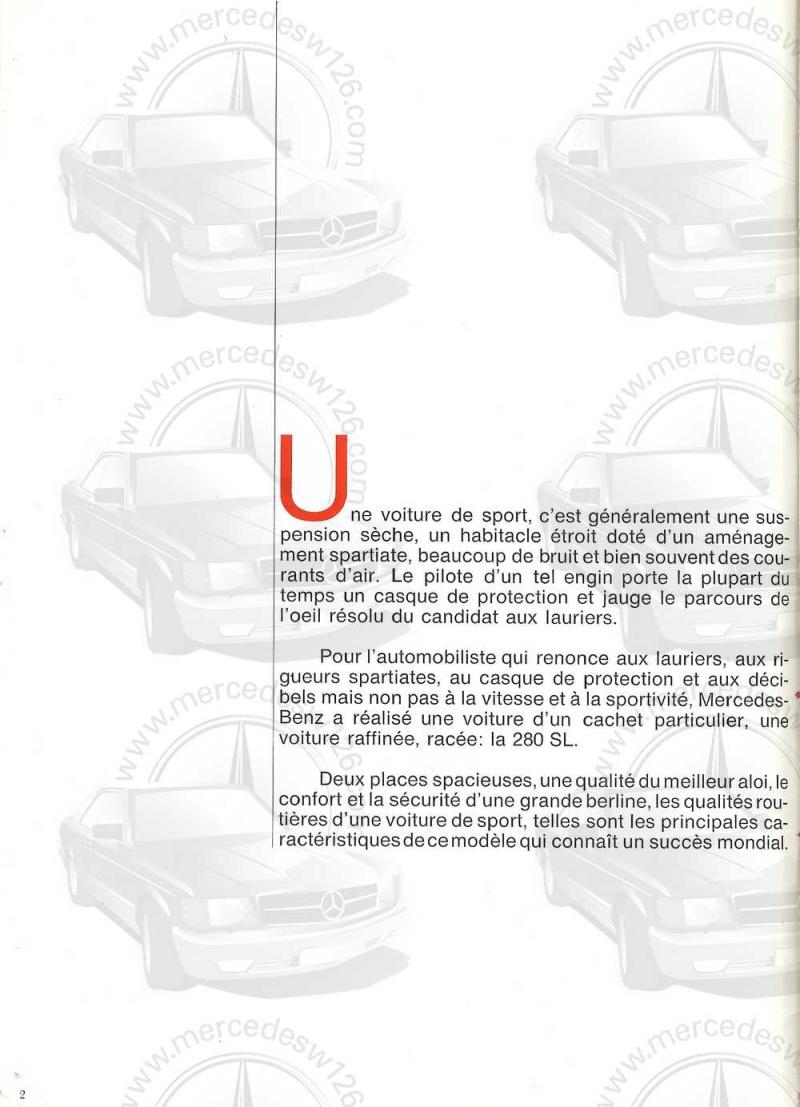Catalogue de 1970 sur la Mercedes pagode W113 280 SL 280_sl10