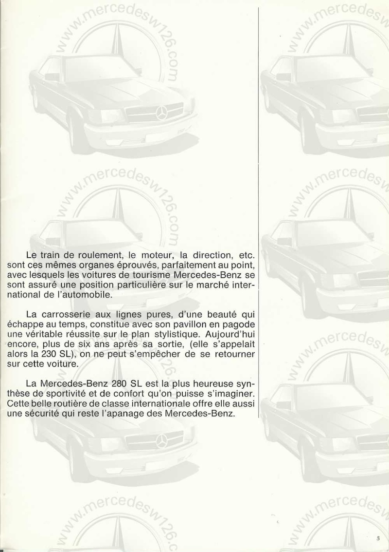 Catalogue de 1970 sur la Mercedes pagode W113 280 SL 280_sl11