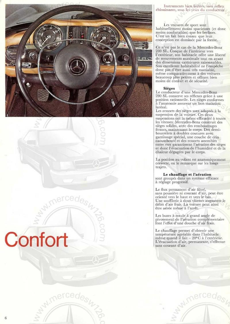 Catalogue de 1970 sur la Mercedes pagode W113 280 SL 280_sl13