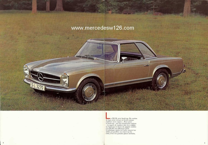 Catalogue de 1970 sur la Mercedes pagode W113 280 SL 280_sl14