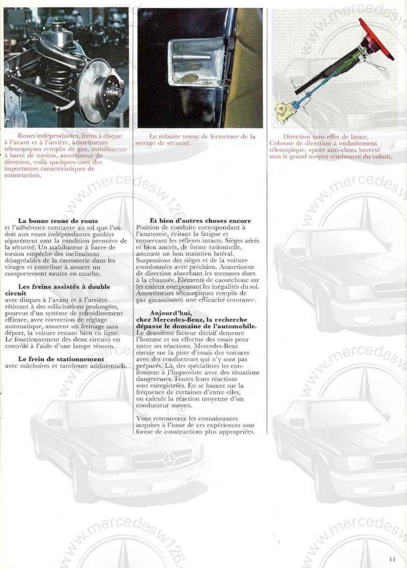 Catalogue de 1970 sur la Mercedes pagode W113 280 SL 280_sl16