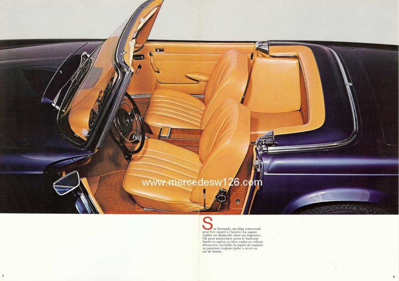 Catalogue de 1970 sur la Mercedes pagode W113 280 SL 280_sl17