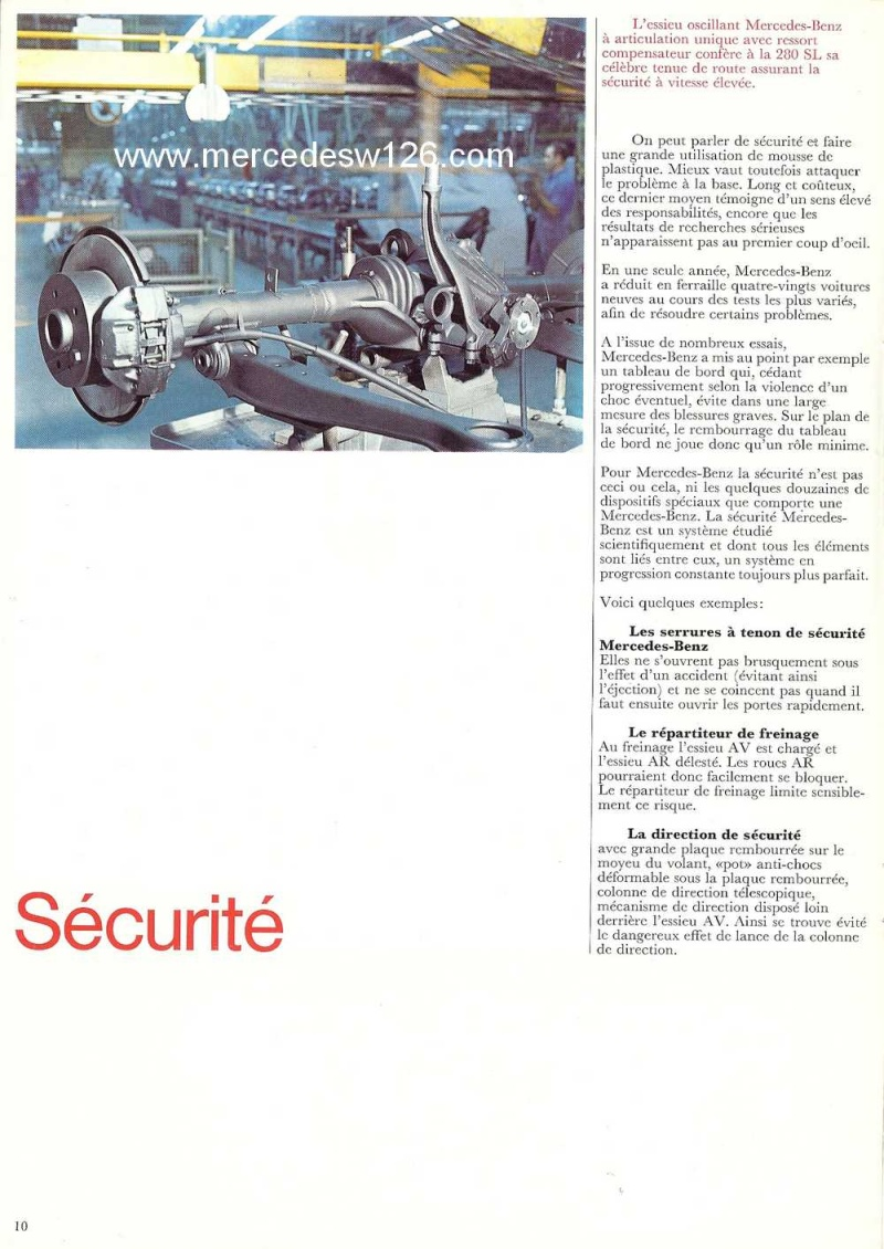 Catalogue de 1970 sur la Mercedes pagode W113 280 SL 280_sl19