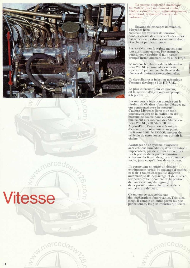 Catalogue de 1970 sur la Mercedes pagode W113 280 SL 280_sl21