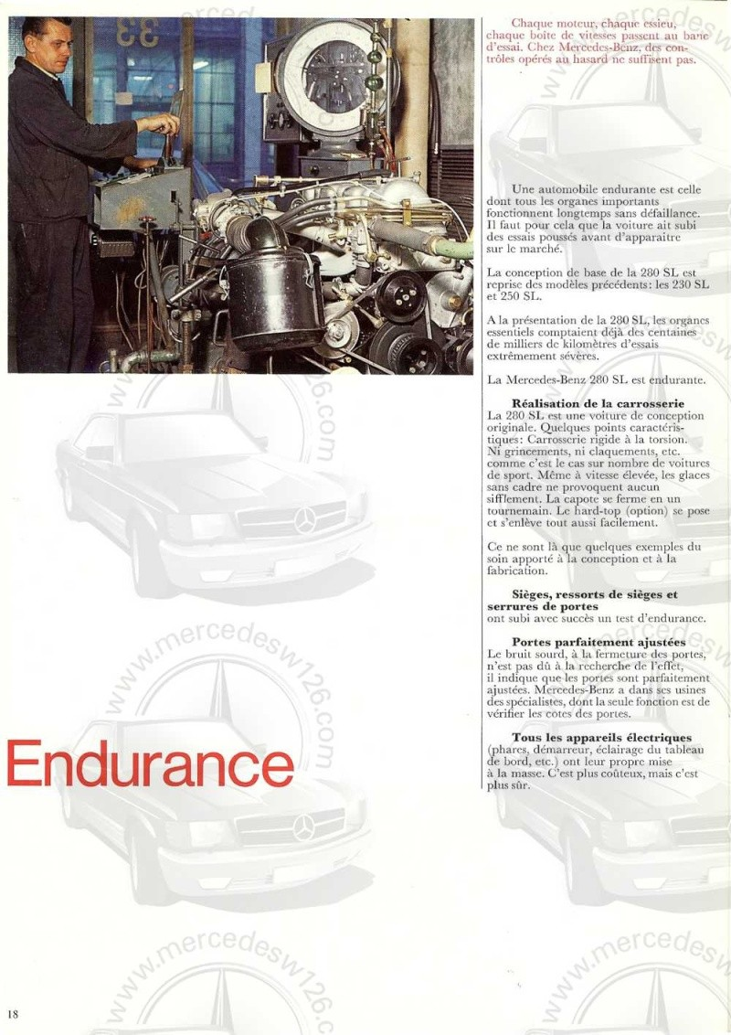 Catalogue de 1970 sur la Mercedes pagode W113 280 SL 280_sl23
