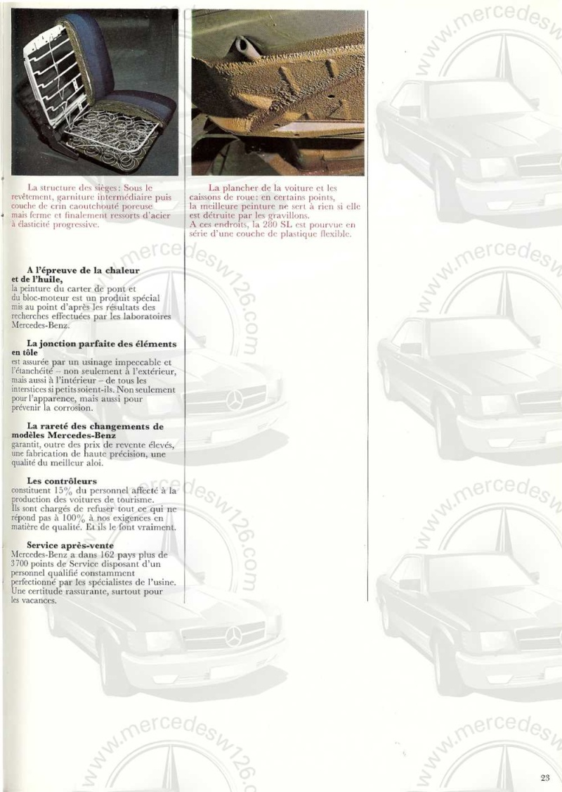 Catalogue de 1970 sur la Mercedes pagode W113 280 SL 280_sl24