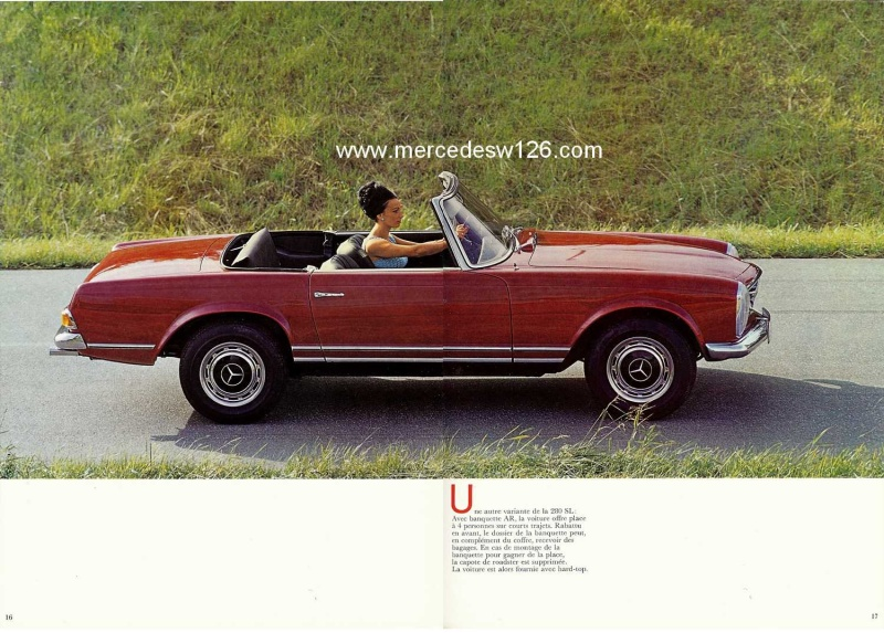 Catalogue de 1970 sur la Mercedes pagode W113 280 SL 280_sl25
