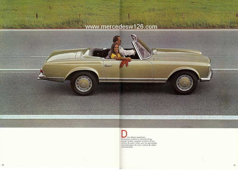 Catalogue de 1970 sur la Mercedes pagode W113 280 SL 280_sl26