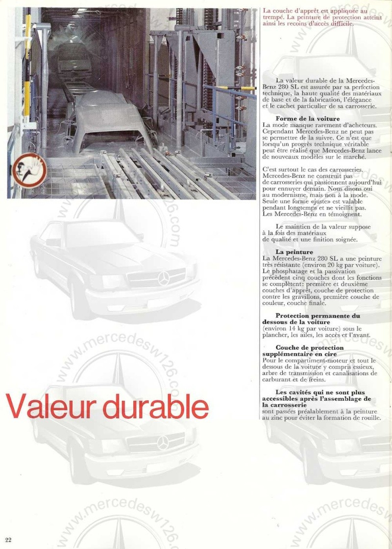 Catalogue de 1970 sur la Mercedes pagode W113 280 SL 280_sl27