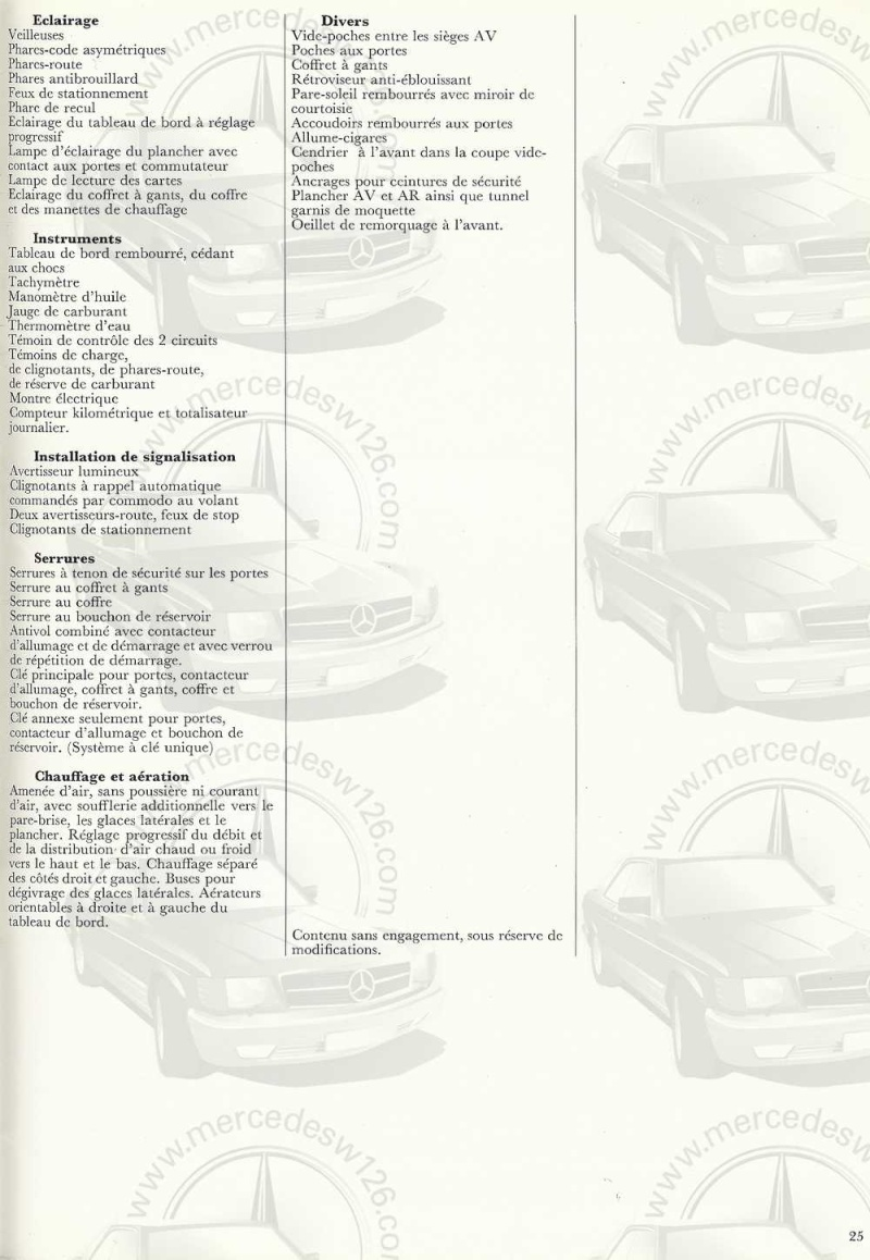 Catalogue de 1970 sur la Mercedes pagode W113 280 SL 280_sl29