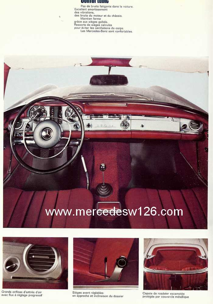 "Catalogue de 1967 sur la W113 280 SL ""pagode"" 280_sl36"