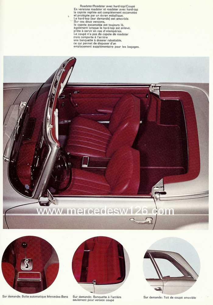 "Catalogue de 1967 sur la W113 280 SL ""pagode"" 280_sl38"
