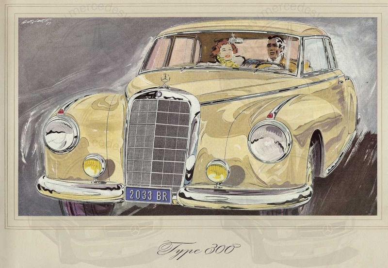 Catalogue de 1952 sur la Mercedes W186 300 berline & cabriolet 300_1914