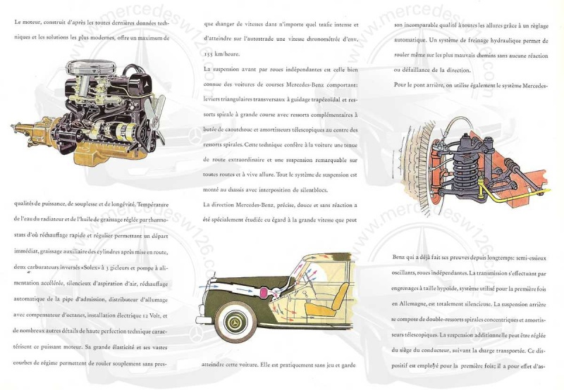 Catalogue de 1952 sur la Mercedes W186 300 berline & cabriolet 300_1915
