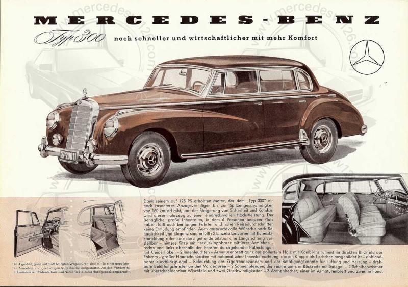 """Prospectus de 1954 sur la Mercedes W186 """"typ 300"""" 300_1922"""