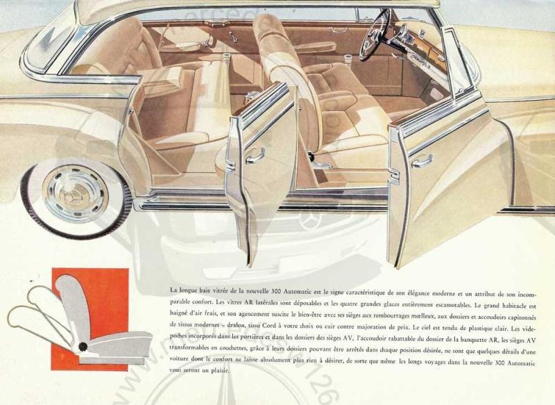 """Catalogue de 1957 sur la Mercedes W189 """"300 automatic"""" 300_au11"""