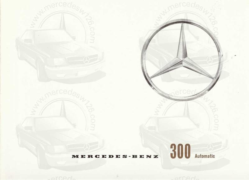 """Catalogue de 1960 sur la Mercedes W189 """"300 automatic"""" 300_pa10"""