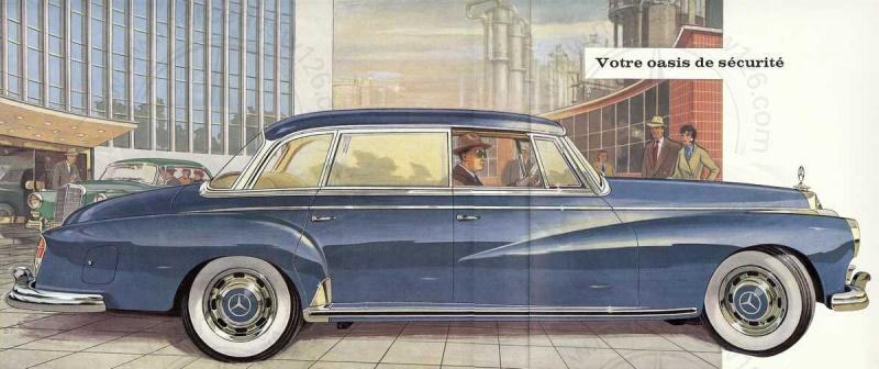 """Catalogue de 1960 sur la Mercedes W189 """"300 automatic"""" 300_pa13"""