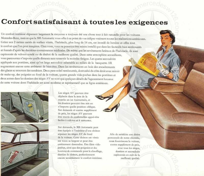 """Catalogue de 1960 sur la Mercedes W189 """"300 automatic"""" 300_pa15"""