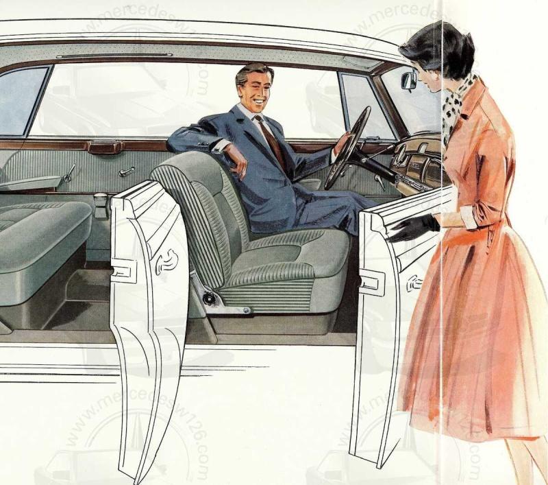 """Catalogue de 1960 sur la Mercedes W189 """"300 automatic"""" 300_pa17"""