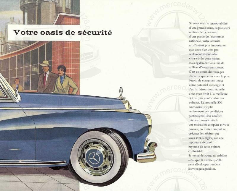 """Catalogue de 1960 sur la Mercedes W189 """"300 automatic"""" 300_pa18"""