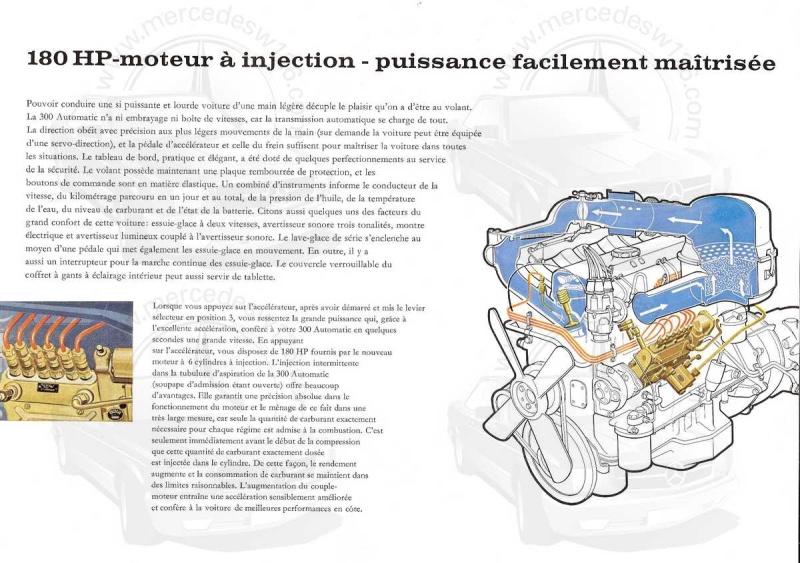 """Catalogue de 1960 sur la Mercedes W189 """"300 automatic"""" 300_pa19"""