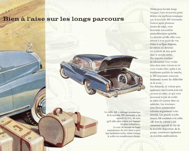 """Catalogue de 1960 sur la Mercedes W189 """"300 automatic"""" 300_pa22"""