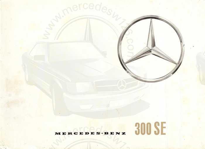 Catalogue de 1962 sur la Mercedes W112 300 SE 300_se10