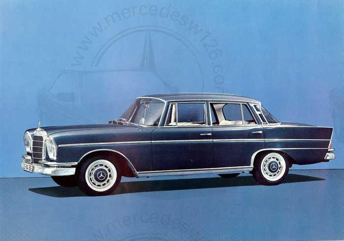 Catalogue de 1962 sur la Mercedes W112 300 SE 300_se11