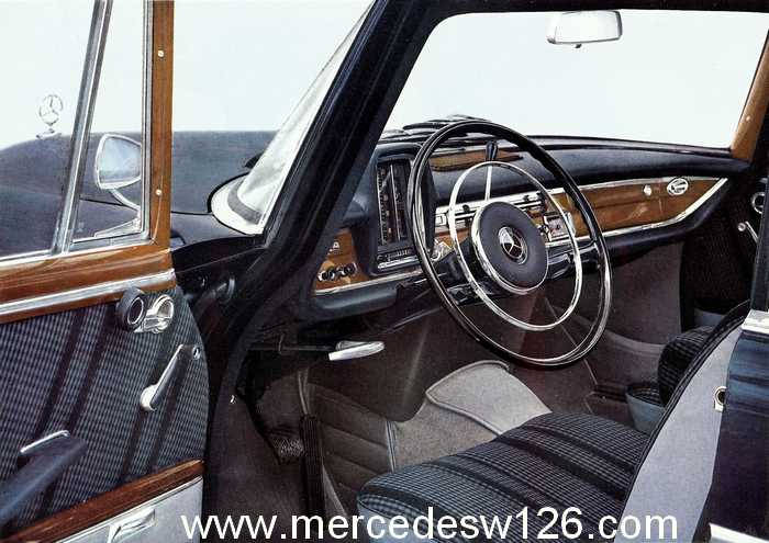 Catalogue de 1962 sur la Mercedes W112 300 SE 300_se16