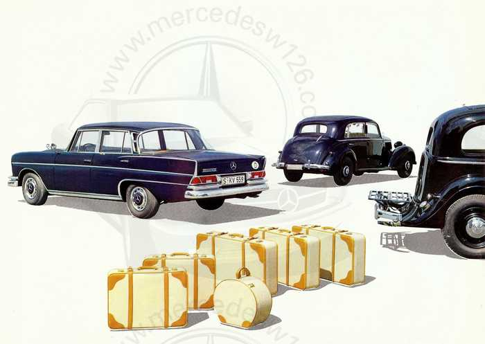 Catalogue de 1962 sur la Mercedes W112 300 SE 300_se18