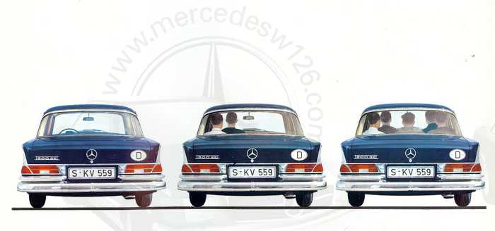 Catalogue de 1962 sur la Mercedes W112 300 SE 300_se24