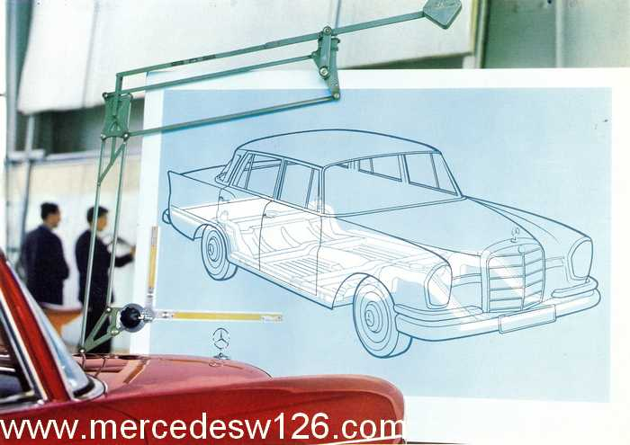 Catalogue de 1962 sur la Mercedes W112 300 SE 300_se25