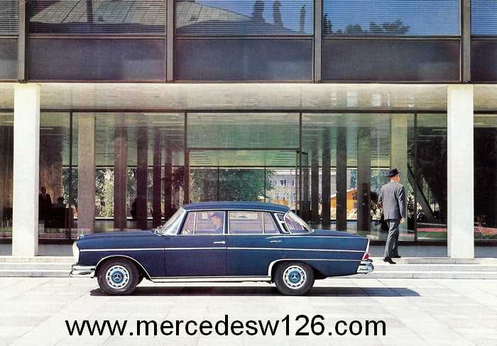 Catalogue de 1962 sur la Mercedes W112 300 SE 300_se30