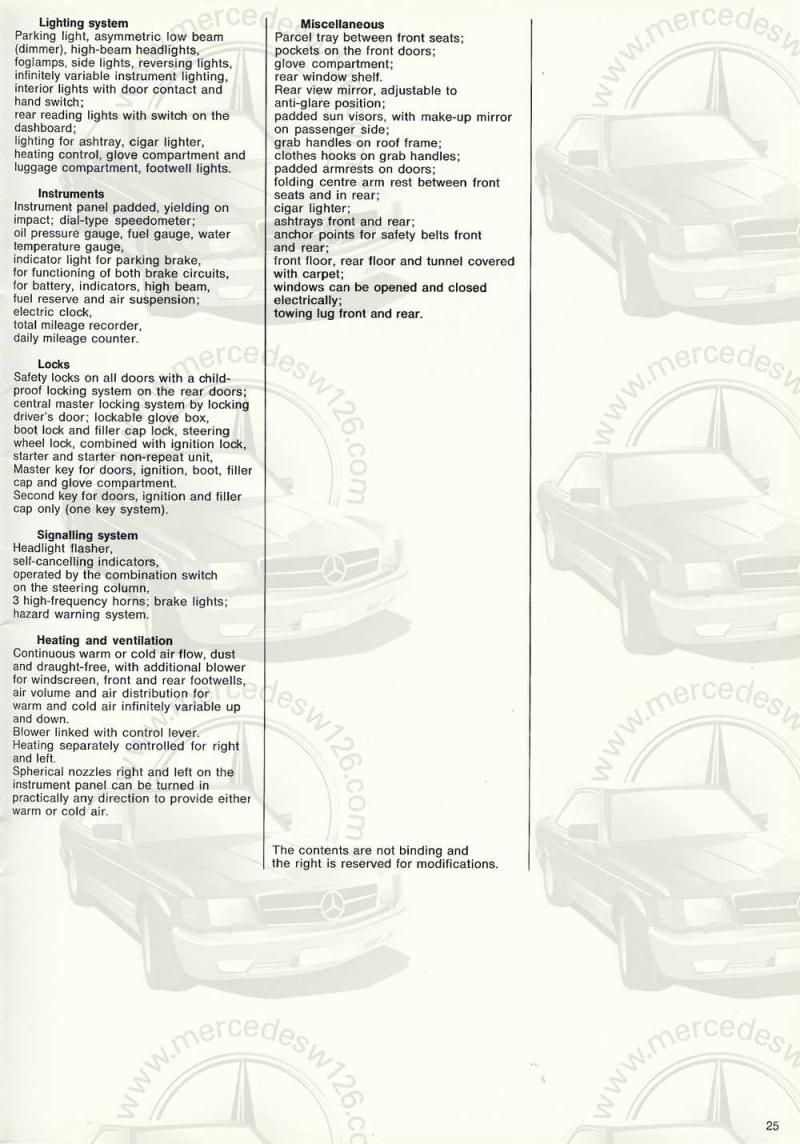 Catalogue de 1969 sur la Mercedes W109 300 SEL 3.5 (décembre) 300_se95