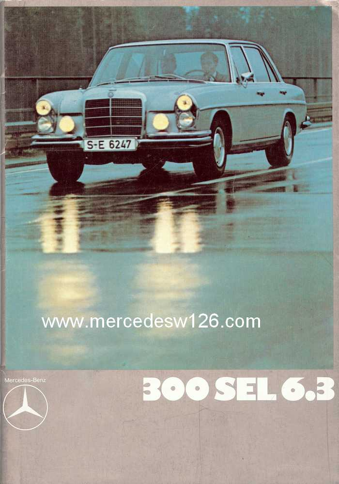 Catalogue de 1971 sur la W109 300 SEL 6.3 300_se99