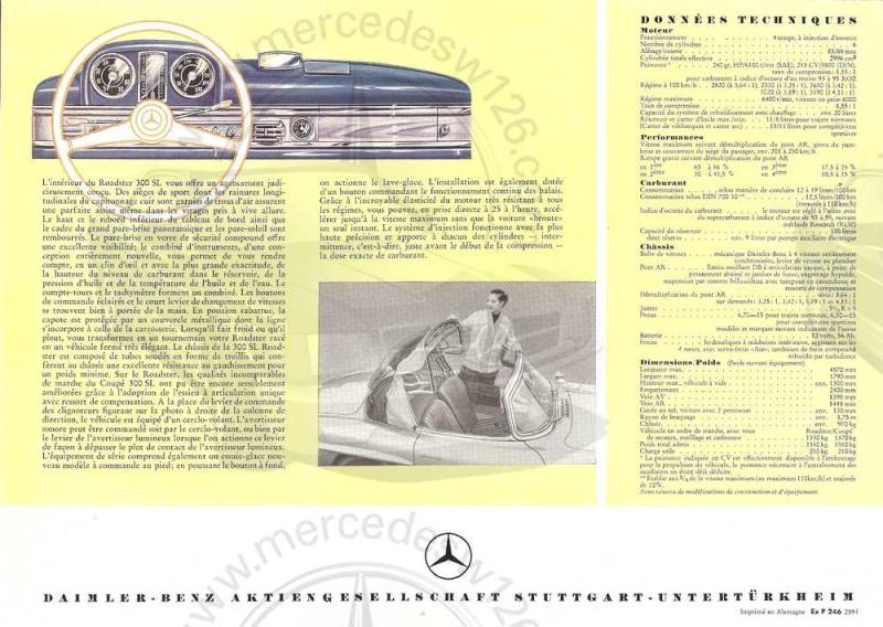 Prospectus de 1959 de la  mythique 300 SL 300_sl20