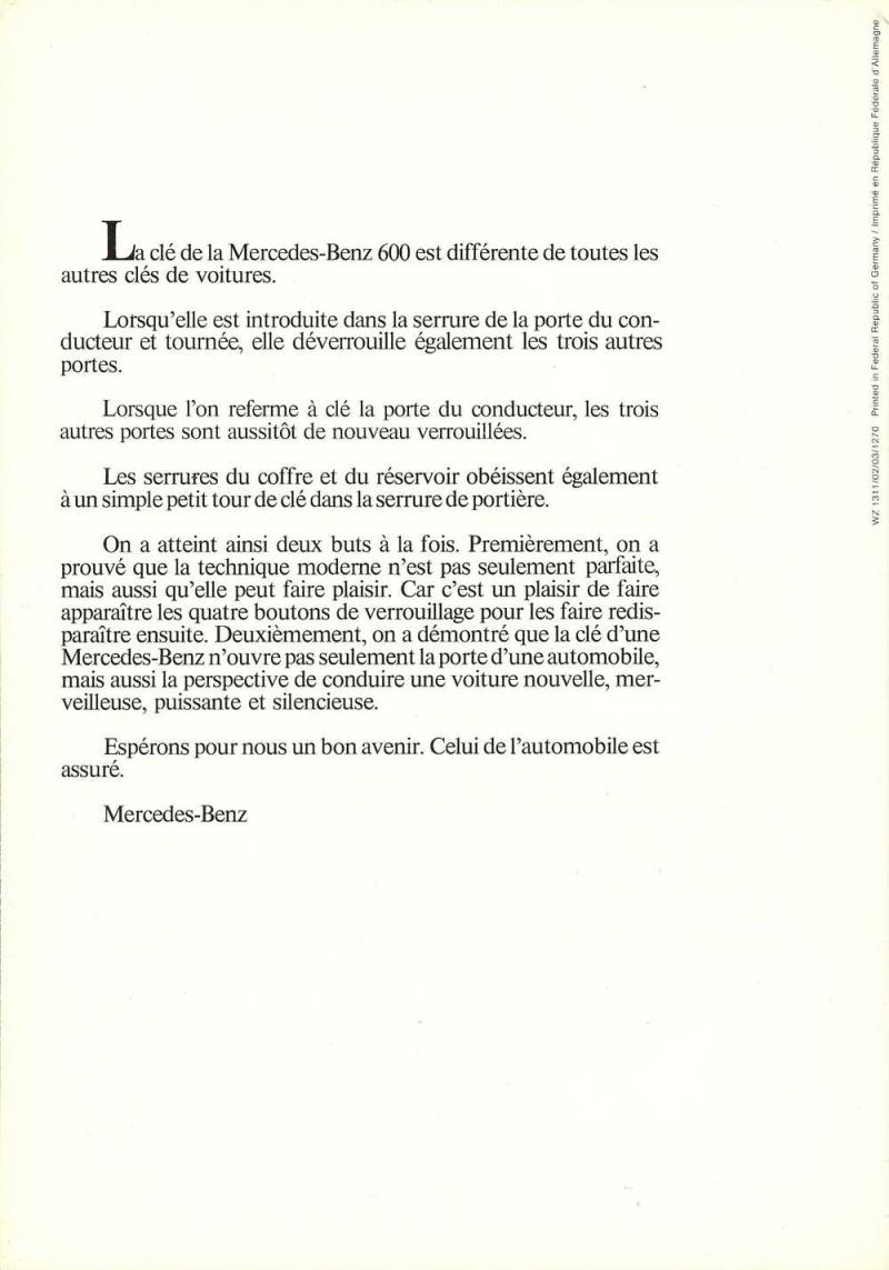Catalogue de 1971 sur la Mercedes W100 600 (français) 600_1932
