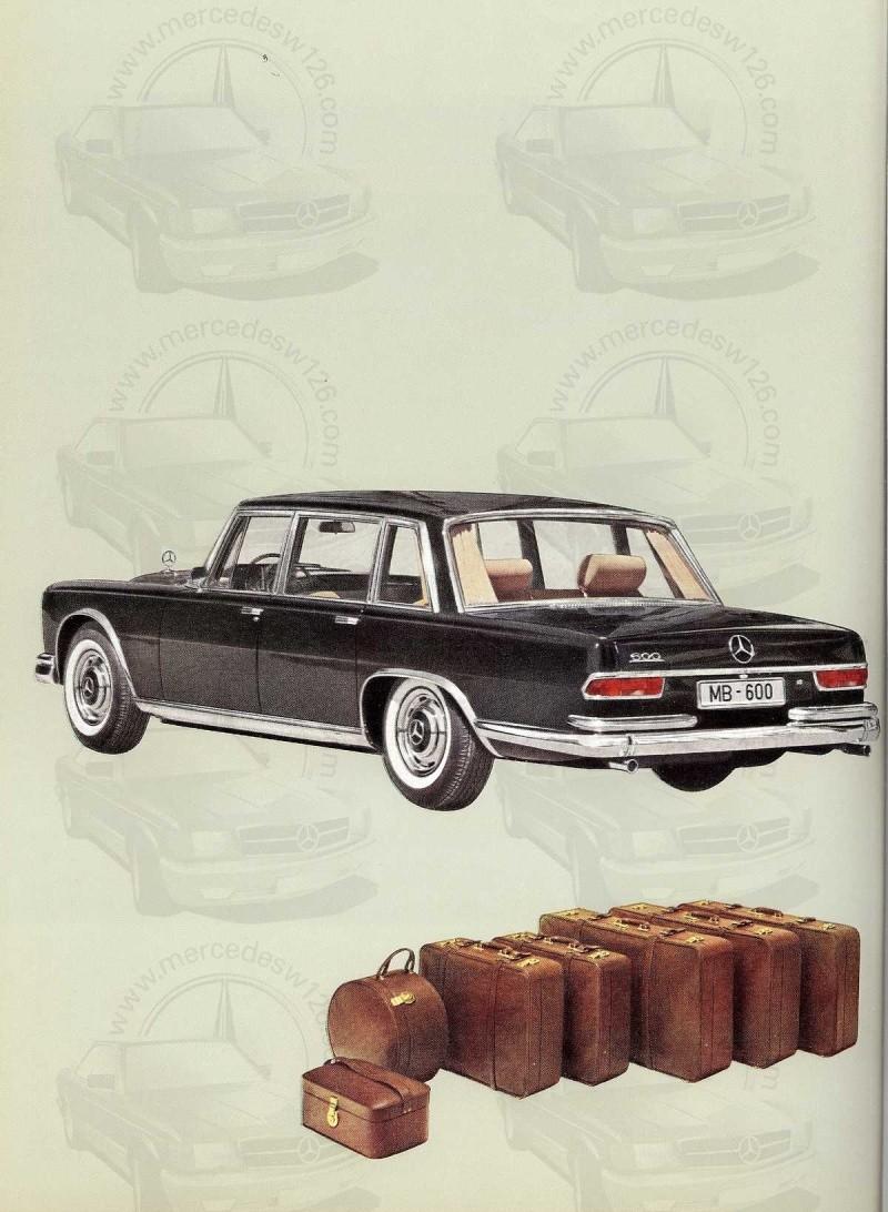 Un autre catalogue de 1965 sur la Mercedes 600 W100 Catalo25