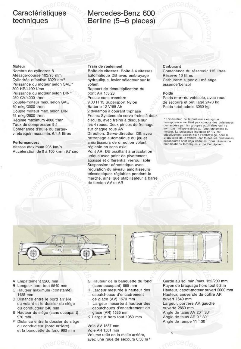 Un autre catalogue de 1965 sur la Mercedes 600 W100 Catalo32