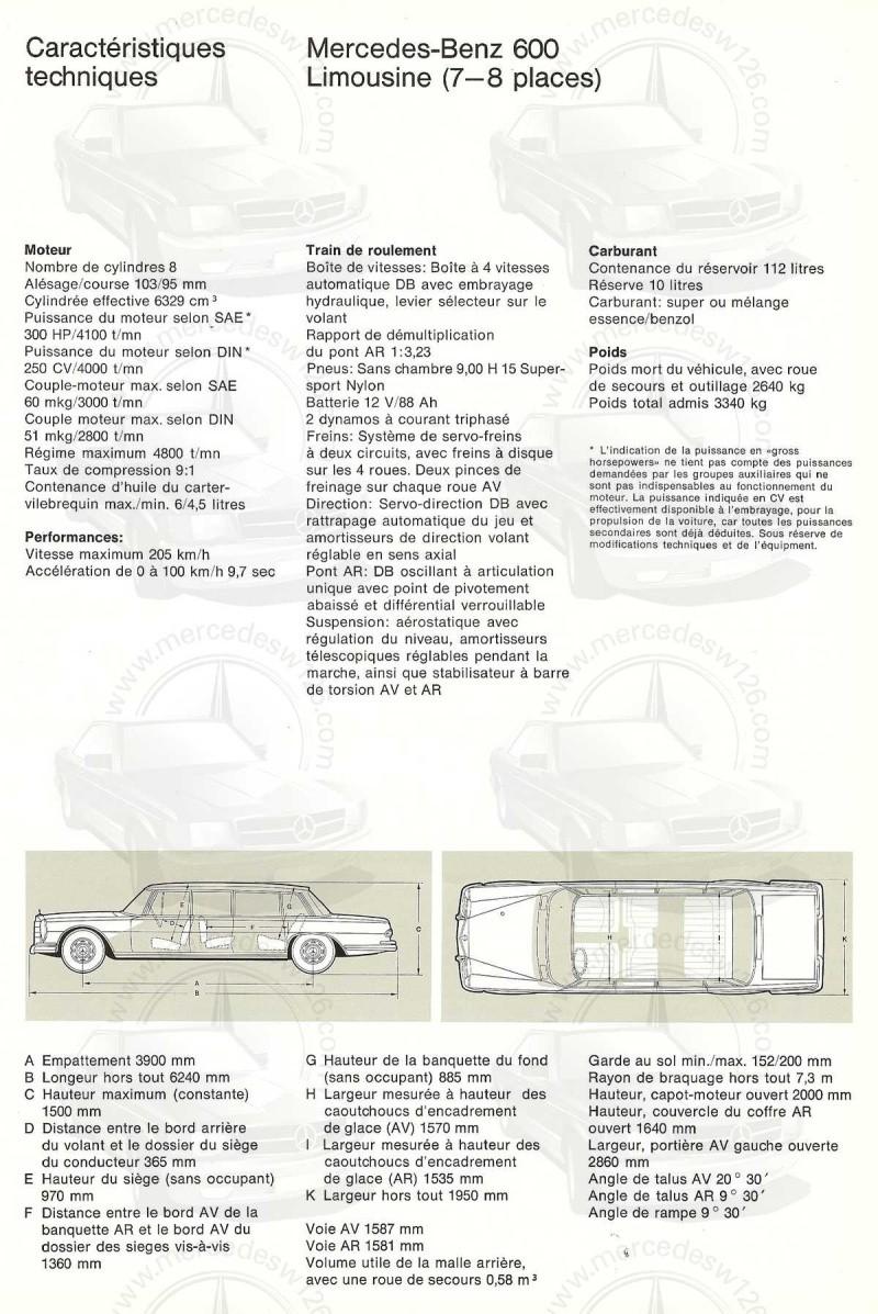 Un autre catalogue de 1965 sur la Mercedes 600 W100 Catalo33