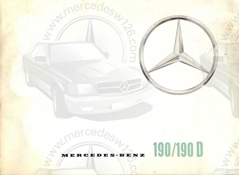 Catalogue de 1961 sur les Mercedes W110 190 & 190 D Catalo39
