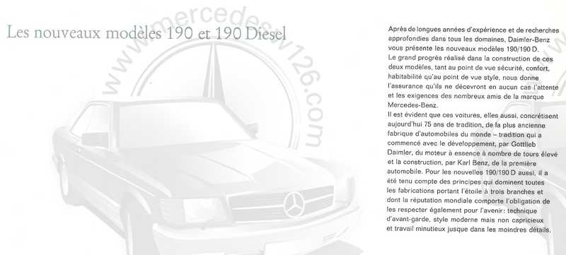 Catalogue de 1961 sur les Mercedes W110 190 & 190 D Catalo40