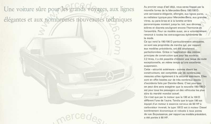 Catalogue de 1961 sur les Mercedes W110 190 & 190 D Catalo42