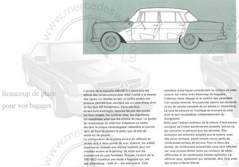 Catalogue de 1961 sur les Mercedes W110 190 & 190 D Catalo45