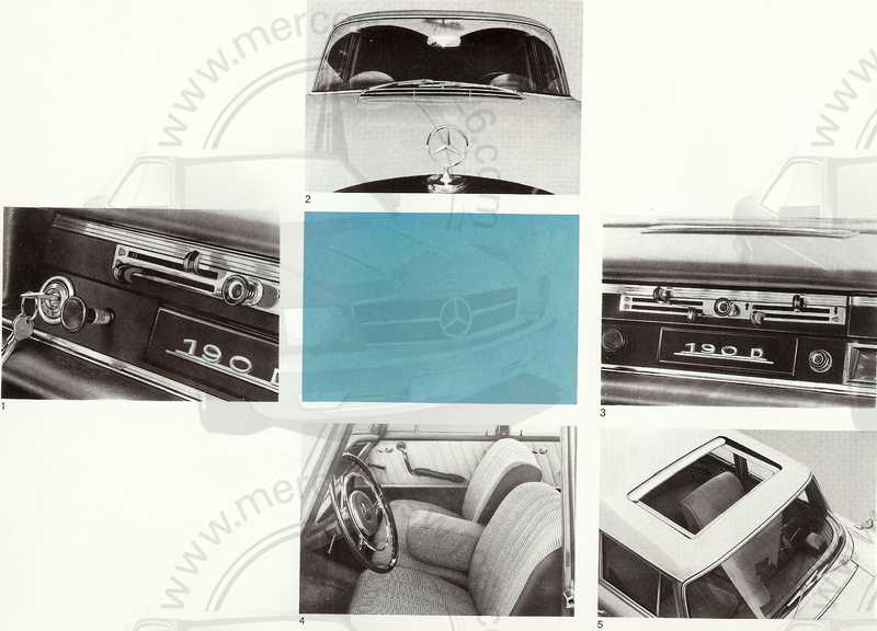 Catalogue de 1961 sur les Mercedes W110 190 & 190 D Catalo48